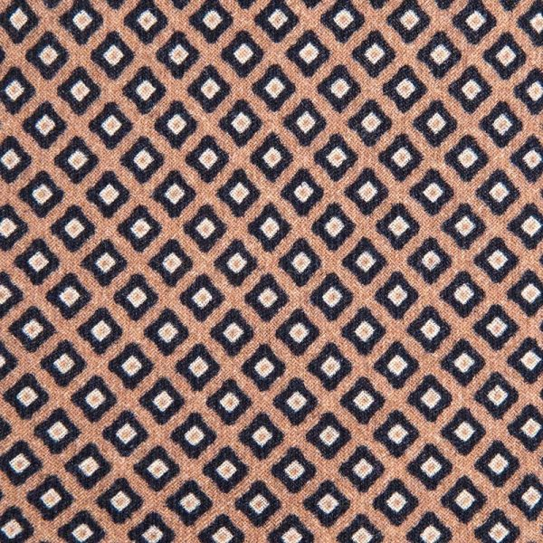 Beige Micro Design Silk Wool
