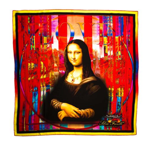 Handmade Italian The Gioconda Red Fantasy Scarf