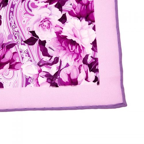 Italian-Pocket-Square Lilac Floral Paisley Silk Pocket Square