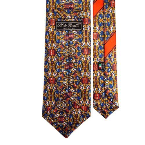 Multicolour Printed Tribal Silk Tie