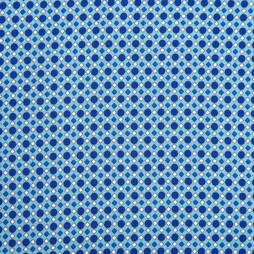 Light Blue Micro Motif Silk Twill Ascot