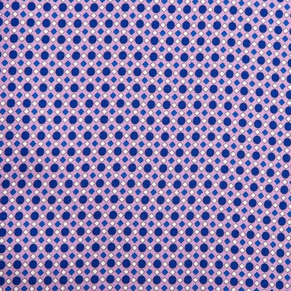 Purple Geometric Motif Silk Twill Ascot