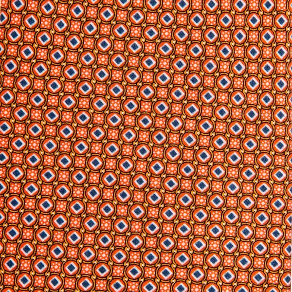 Orange Micro Motif Satin Silk Tie